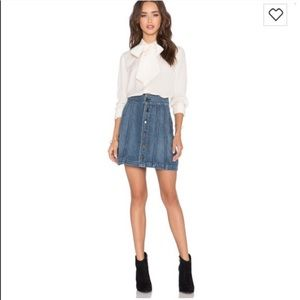 "FRAME Denim ""Le Panel"" Denim Mini Skirt"